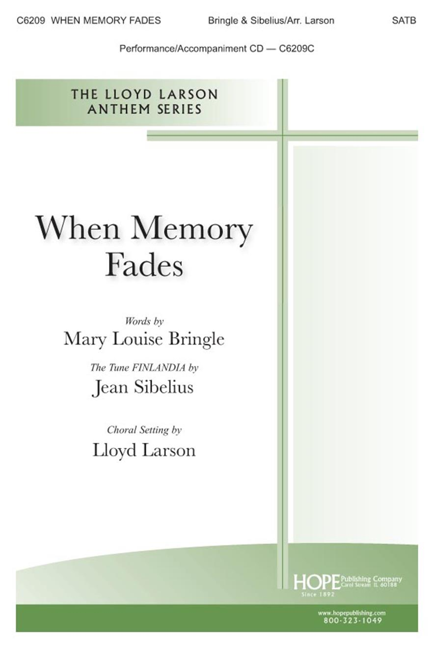 When Memory Fades - SATB Cover Image