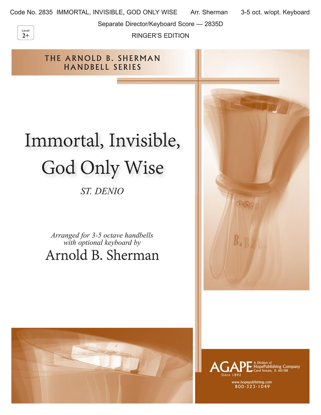Immortal Invisible God Only Wise - 3-5 oct. w- opt. keyboard Cover Image
