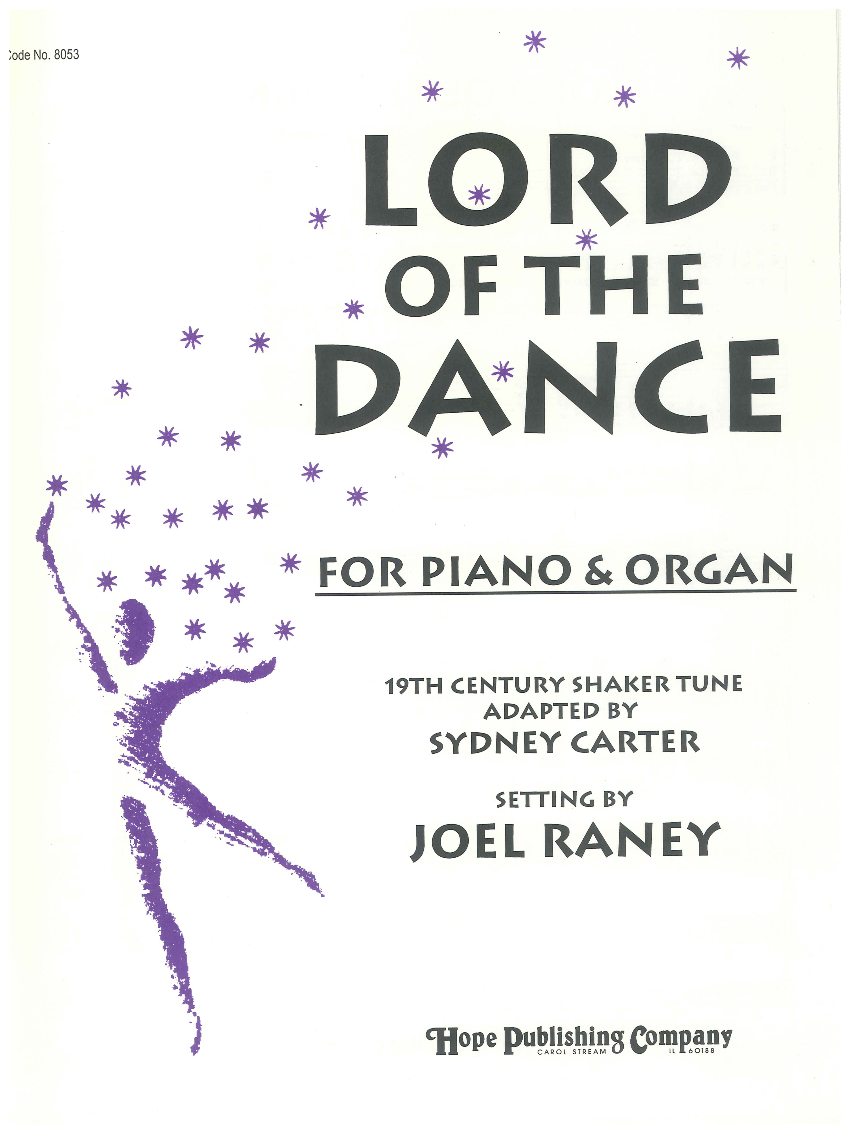 Lord of the Dance - Piano and Organ Cover Image