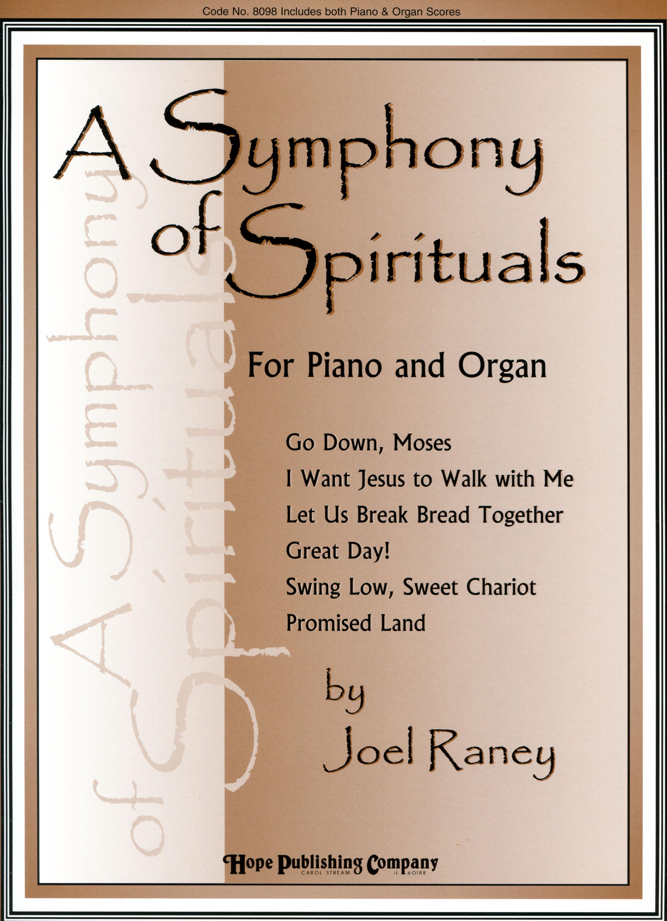 Symphony of Spirituals A - Piano-Organ Duets Cover Image