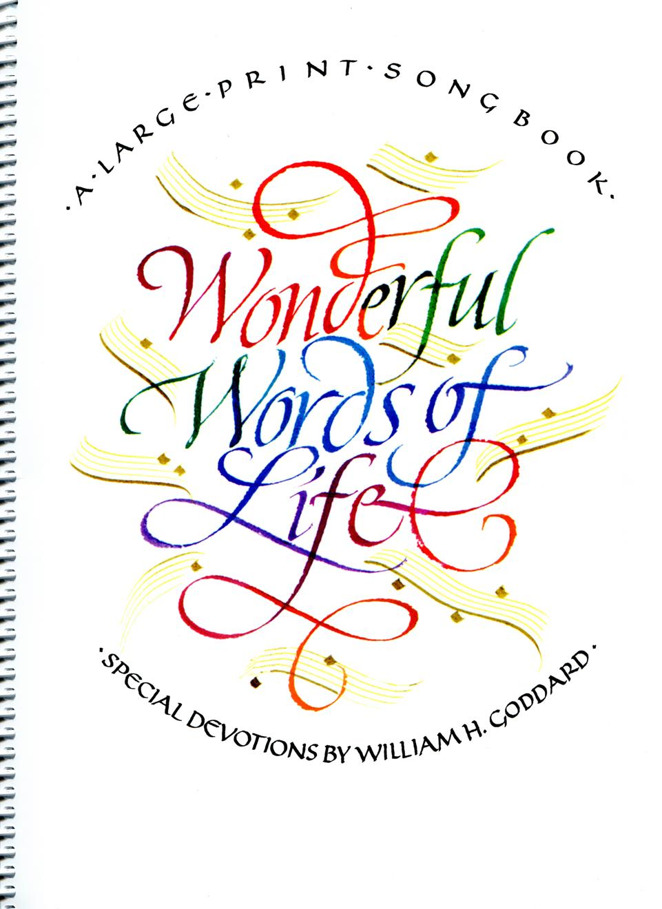 Wonderful Words of Life - Spiral Cover Image