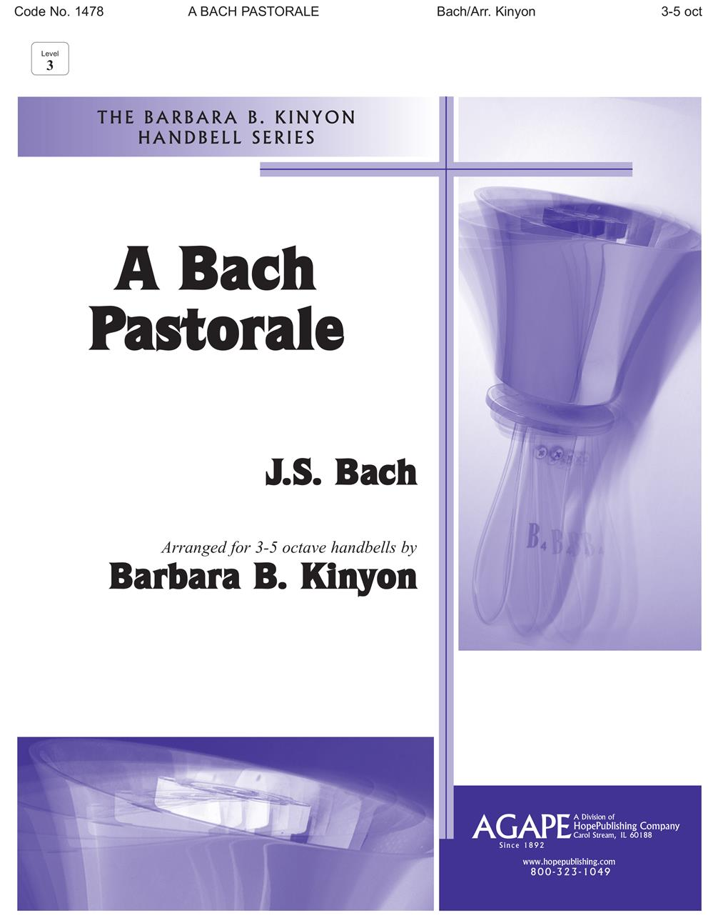 Bach Pastorale A  - 3-5 Octave Cover Image