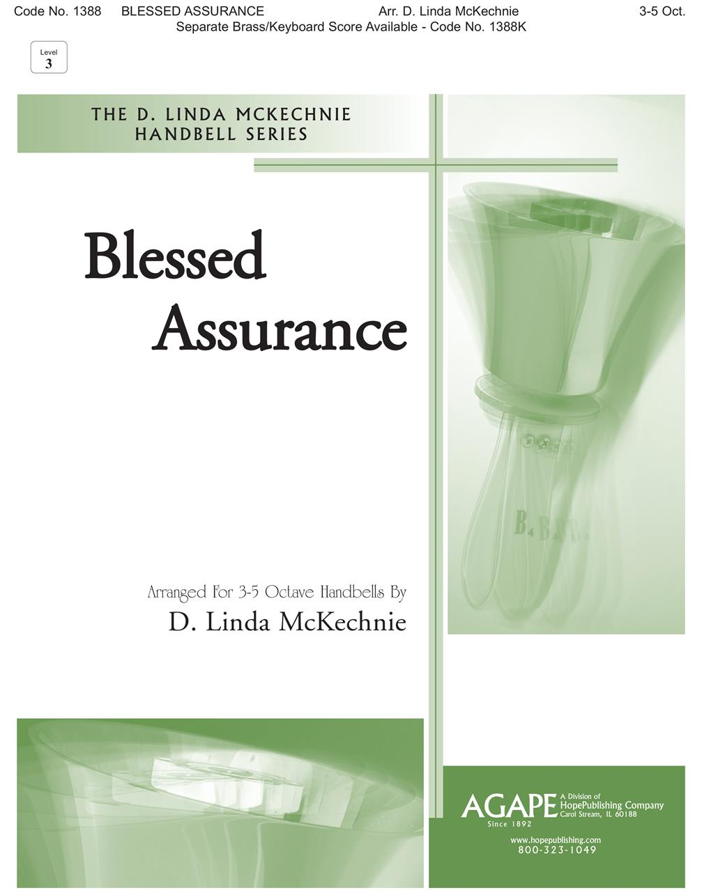 Blessed Assurance - 3-5 Octave Cover Image