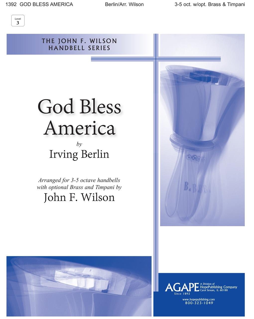 God Bless America - 3-5 Octave Cover Image