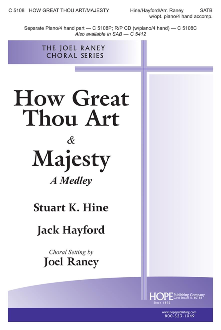 How Great Thou Art-Majesty - SATB Cover Image