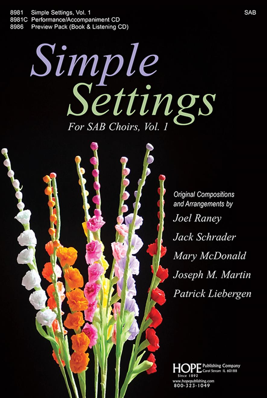 Simple Settings for SAB Choirs Vol. 1 - Score Cover Image