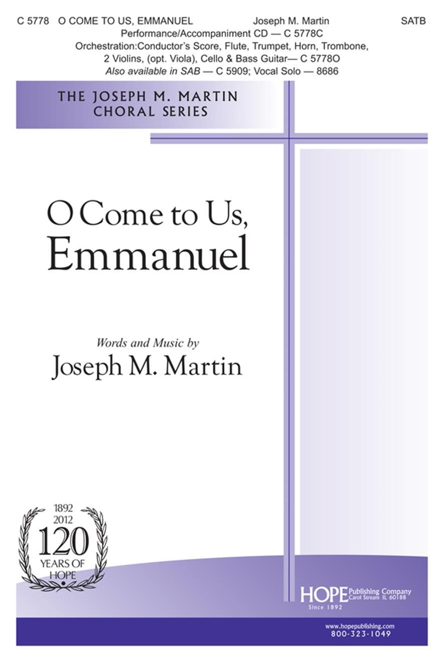 O Come to Us Emmanuel - SATB Cover Image