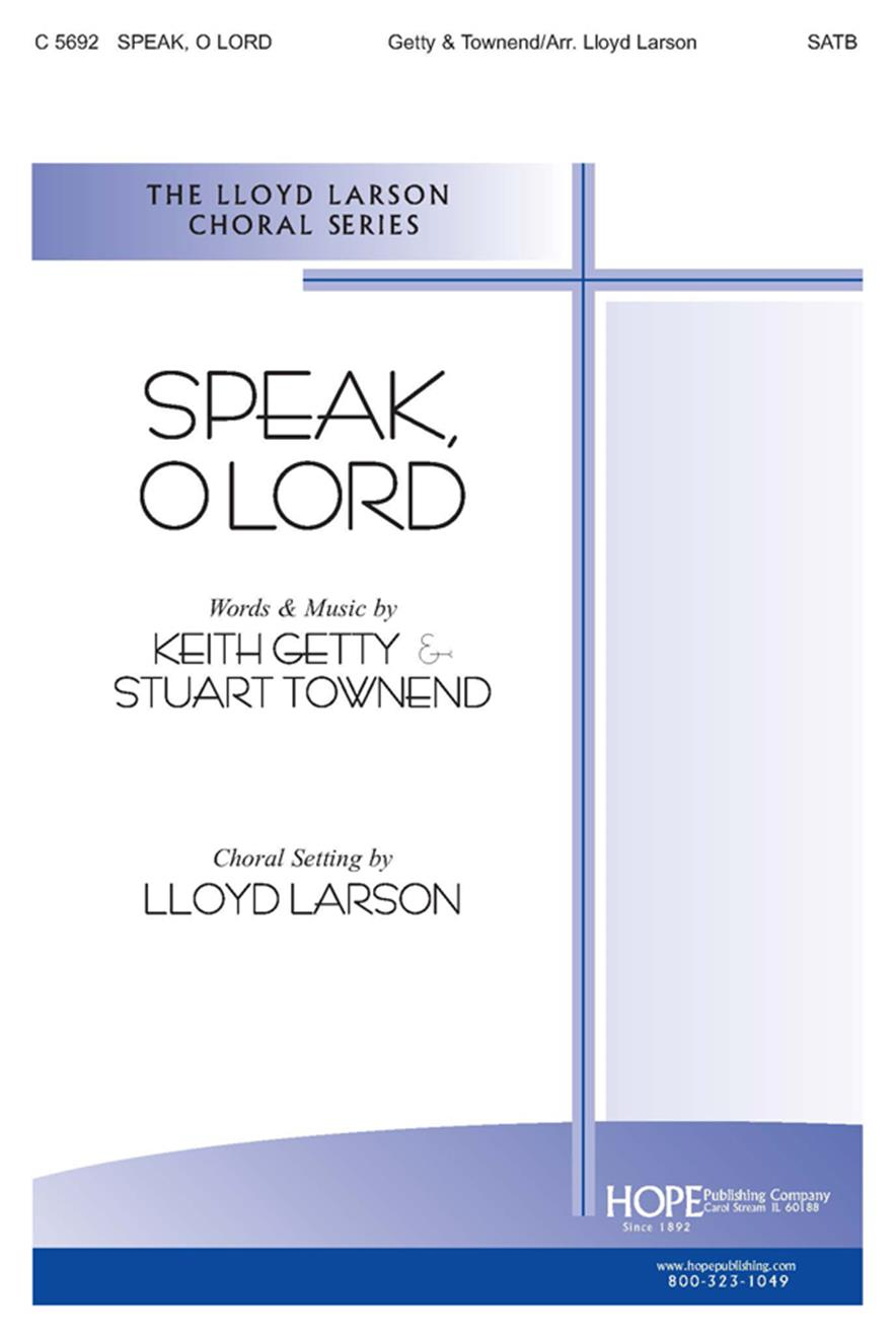 Speak O Lord - SATB Cover Image