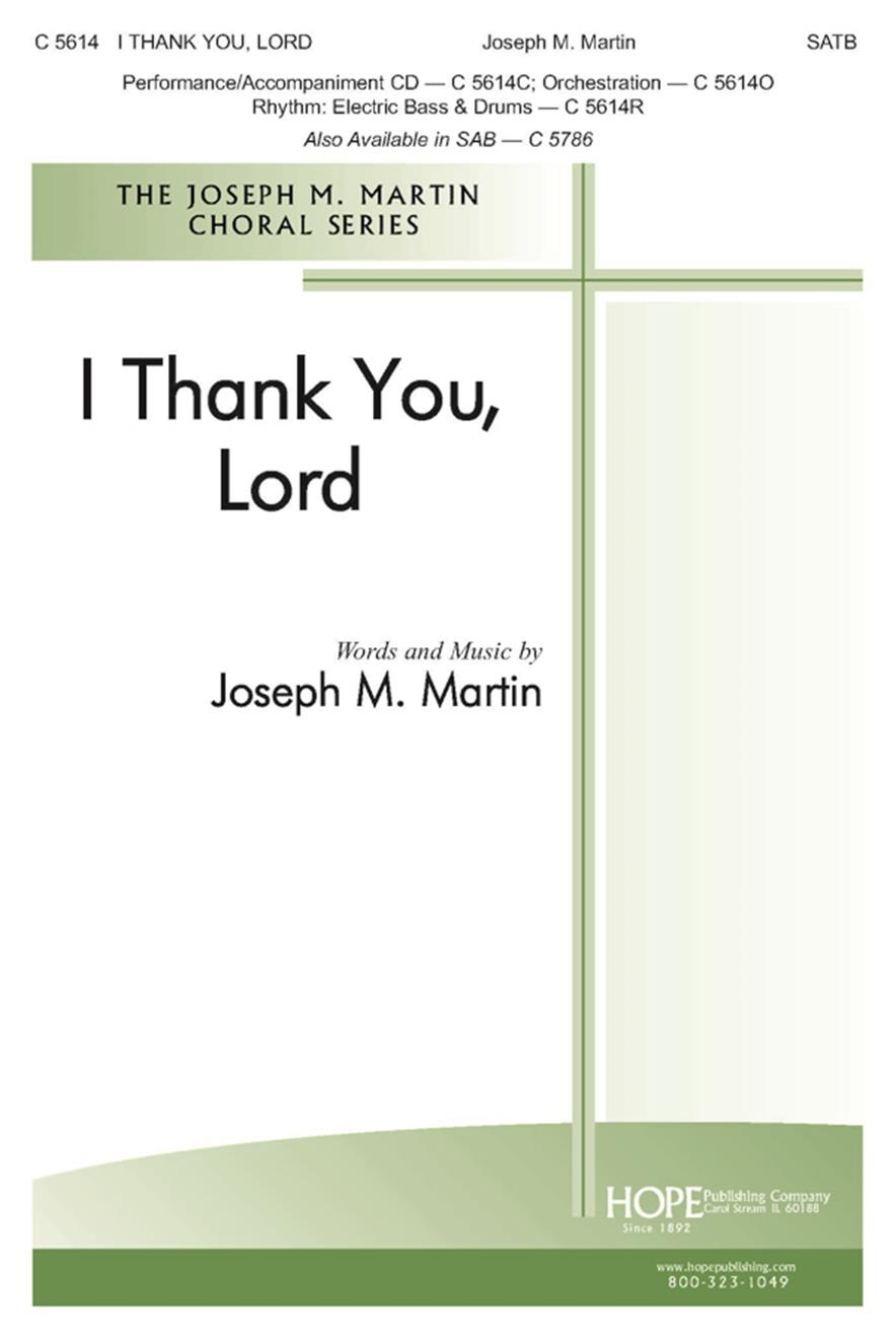 I Thank You Lord - SATB Cover Image