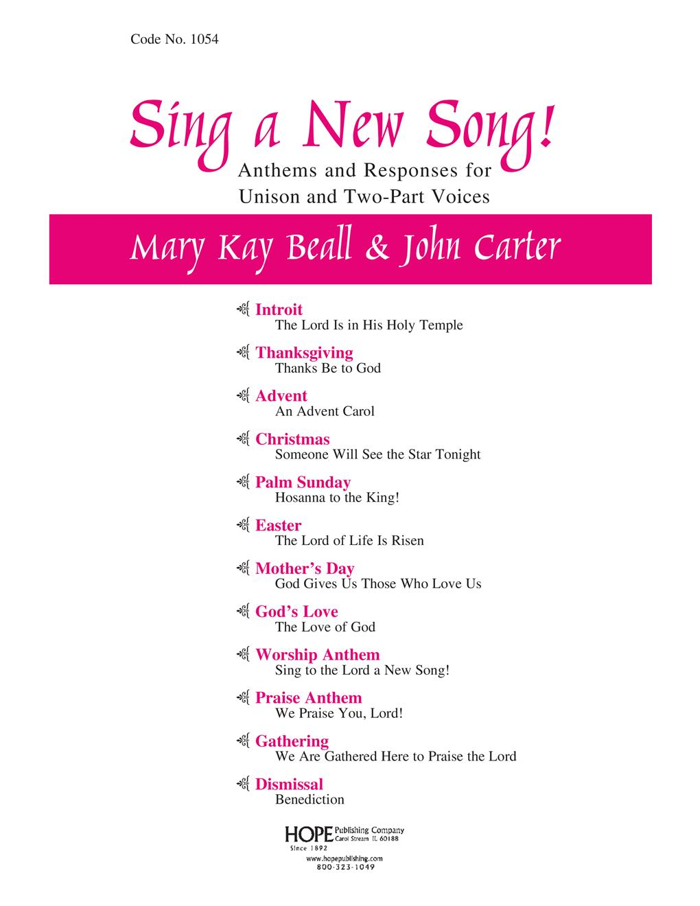 SING A NEW SONG! - Cover Image