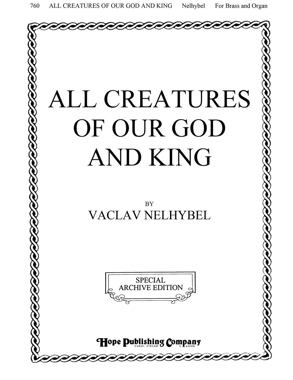 All Creatures of Our God and King - Organ and Brass Cover Image