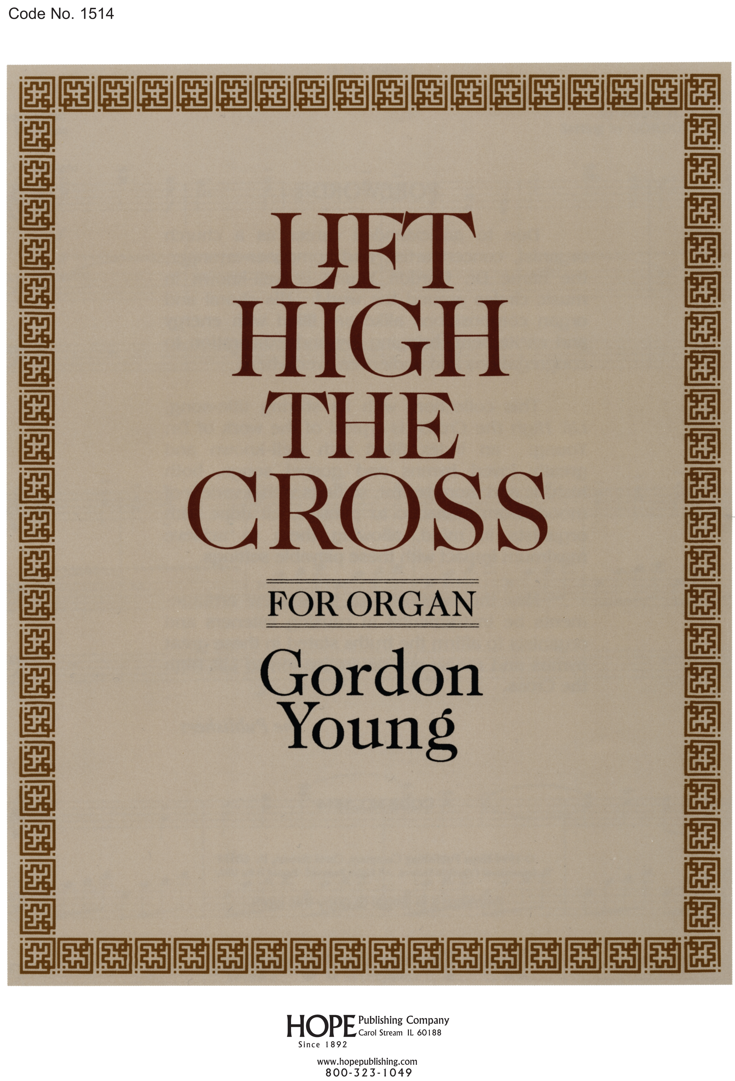 Lift High the Cross - for Organ Cover Image