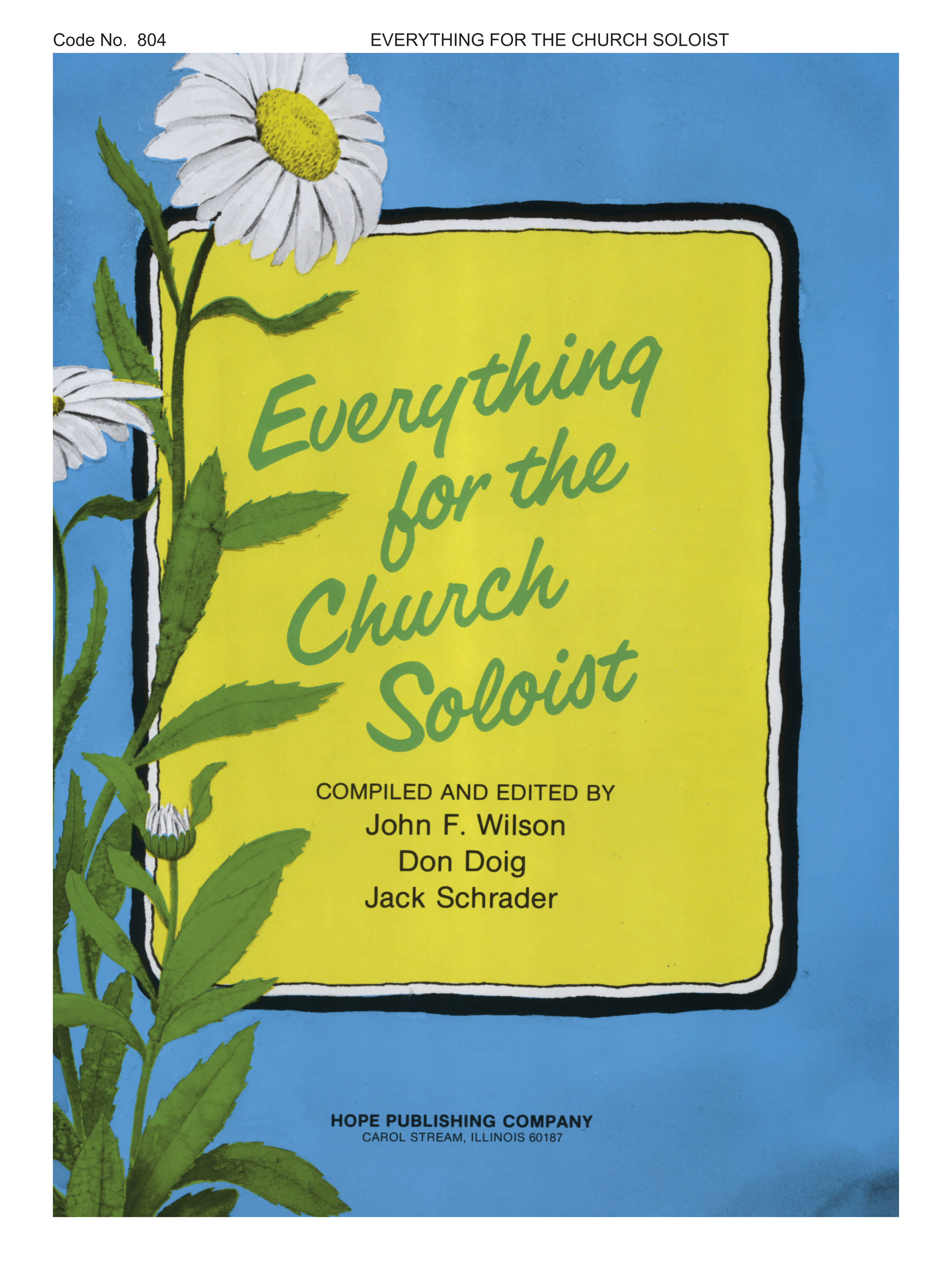 Everything for the Church Soloist Cover Image