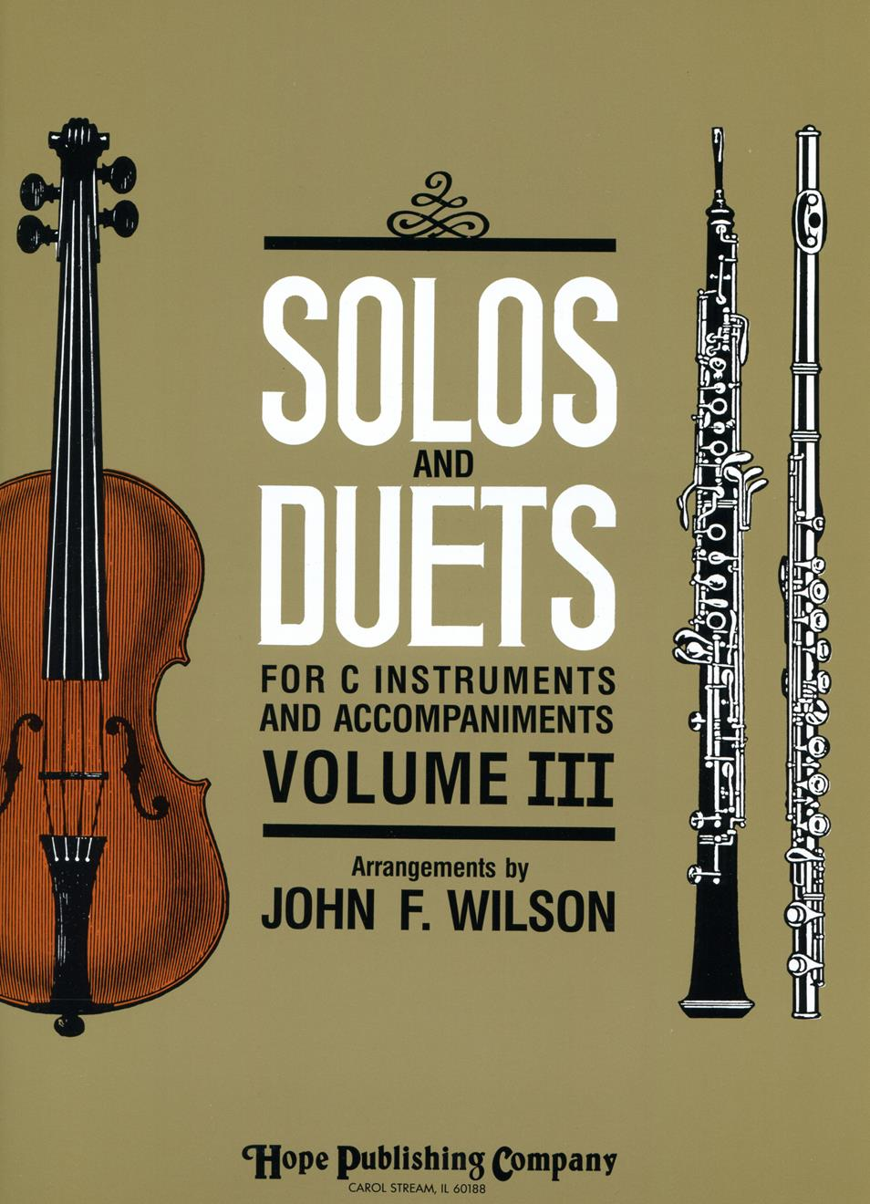 Solos and Duets for C Instruments Vol.III Cover Image