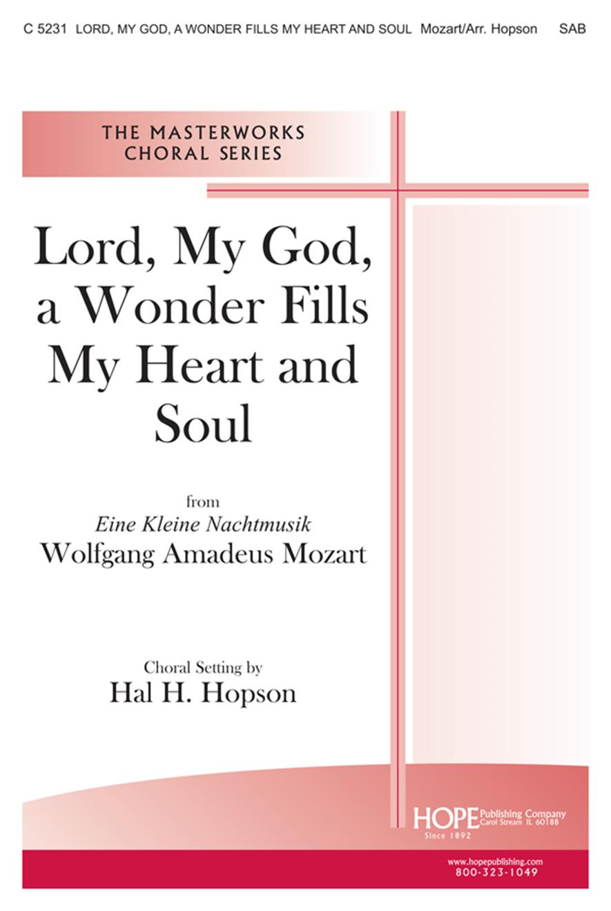 Lord My God a Wonder Fills My Heart and Soul - SAB Cover Image