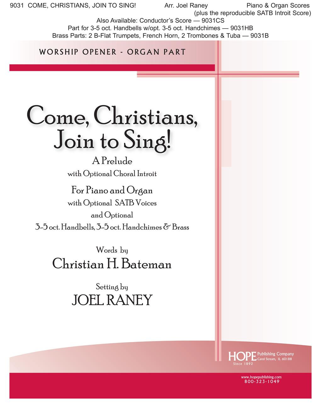 Come Christians Join to Sing - Piano-Organ Duet Cover Image