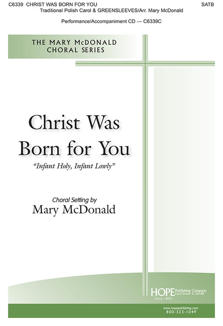 Christ Was Born for You - SATB Cover Image