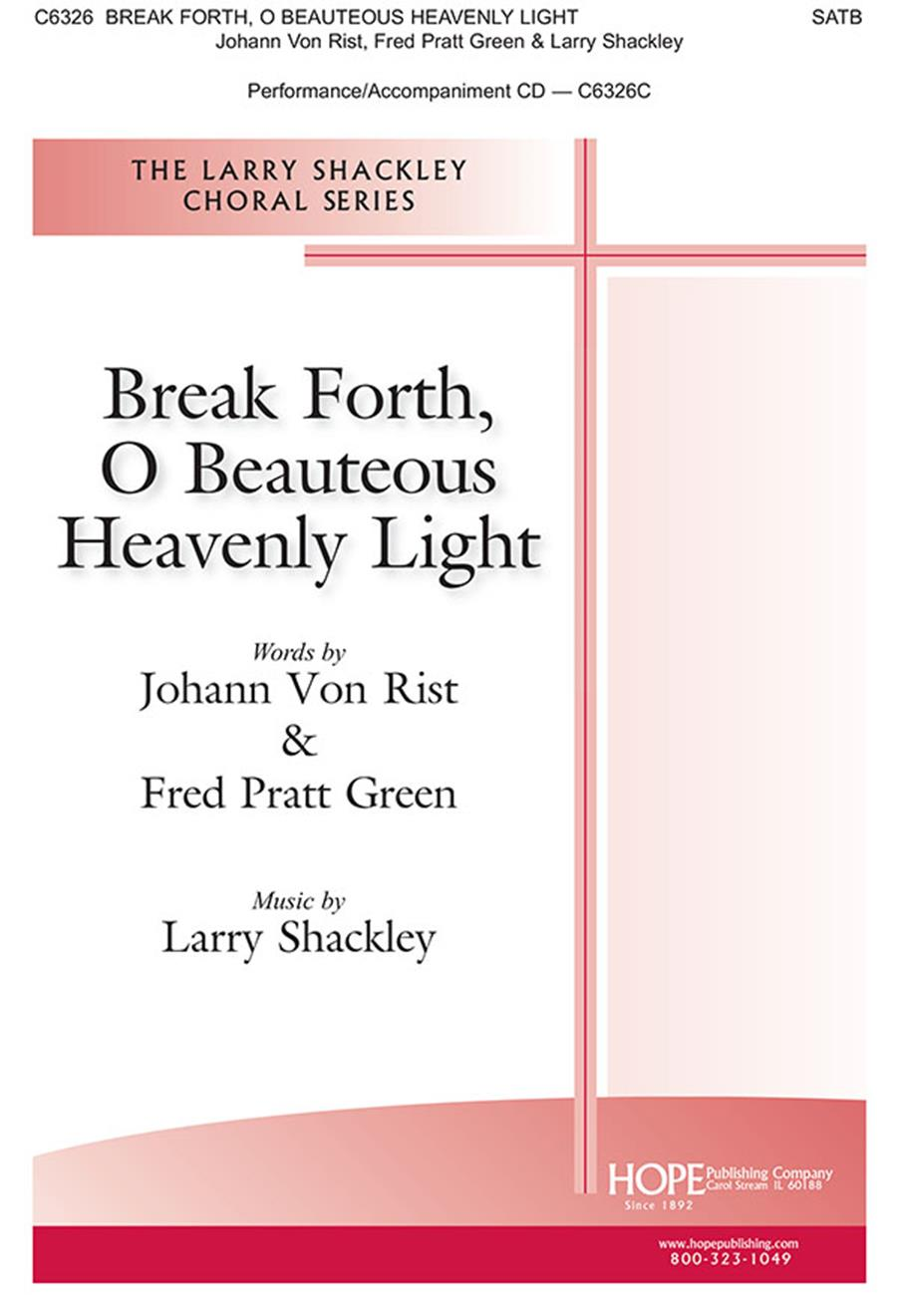 Break Forth O Beauteous Heavely Light - SATB Cover Image