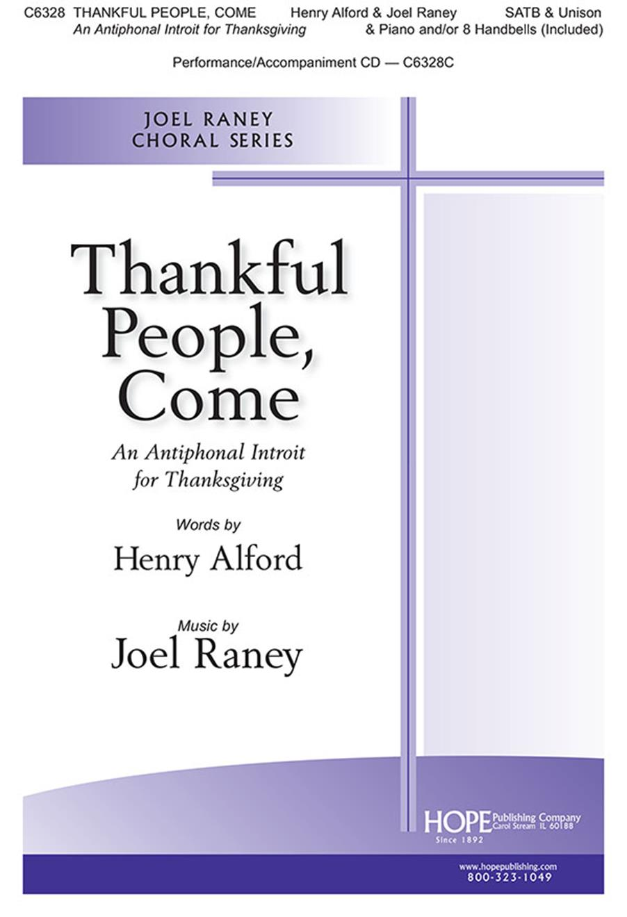 Thankful People Come - SATB Cover Image
