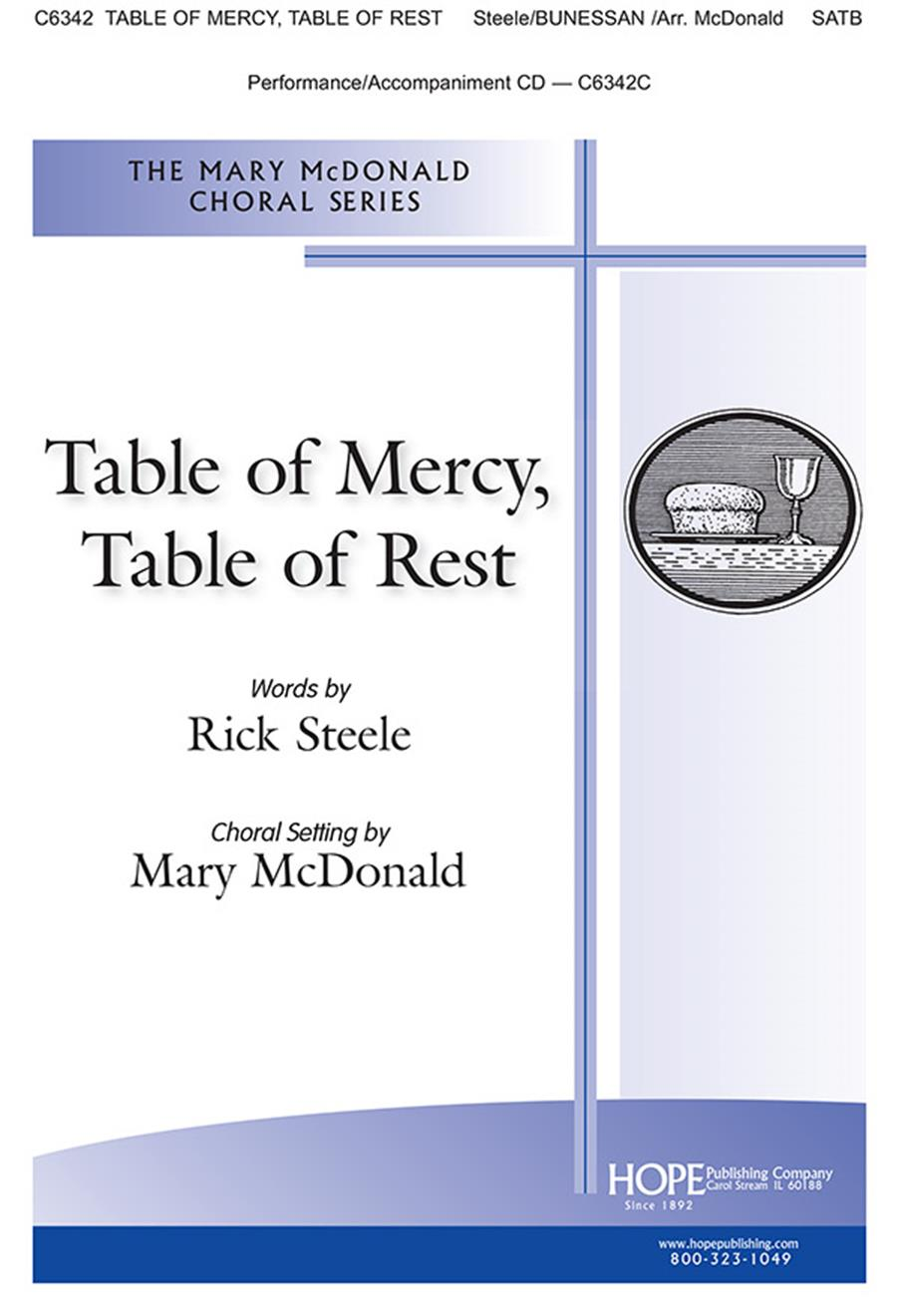Table of Mercy Table of Rest - SATB Cover Image