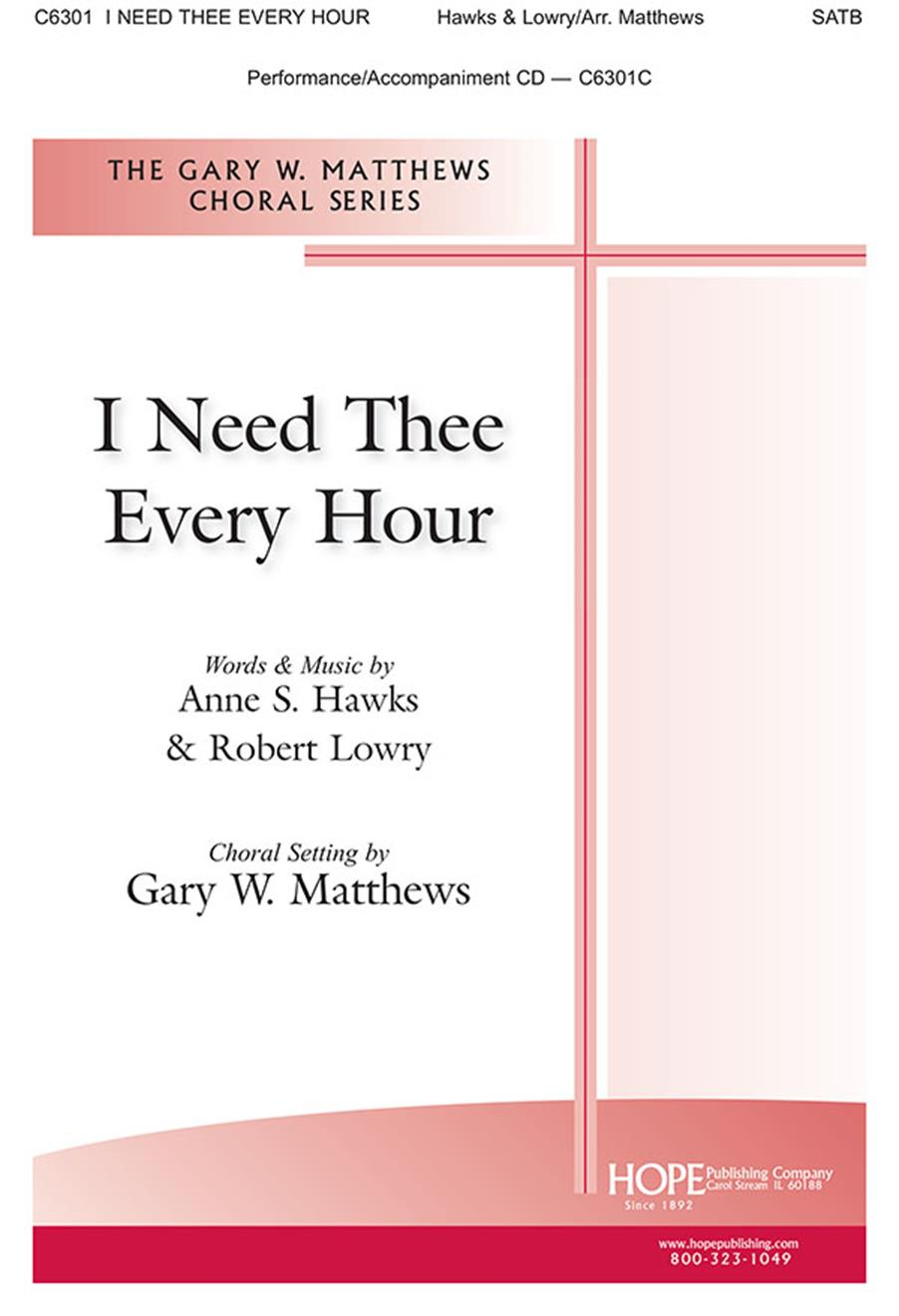I Need Thee Every Hour - SATB Cover Image