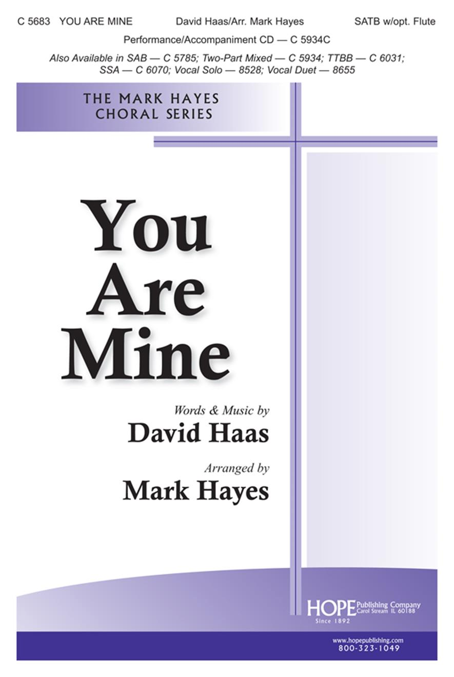 You Are Mine - SATB w-opt. Flute (included) Cover Image