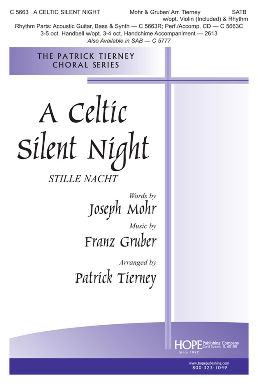 Celtic Silent Night A - SATB w-Violin Cover Image