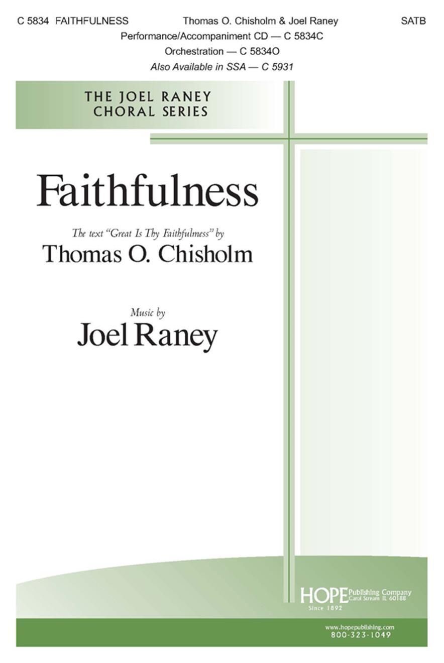 Faithfulness - SATB Cover Image