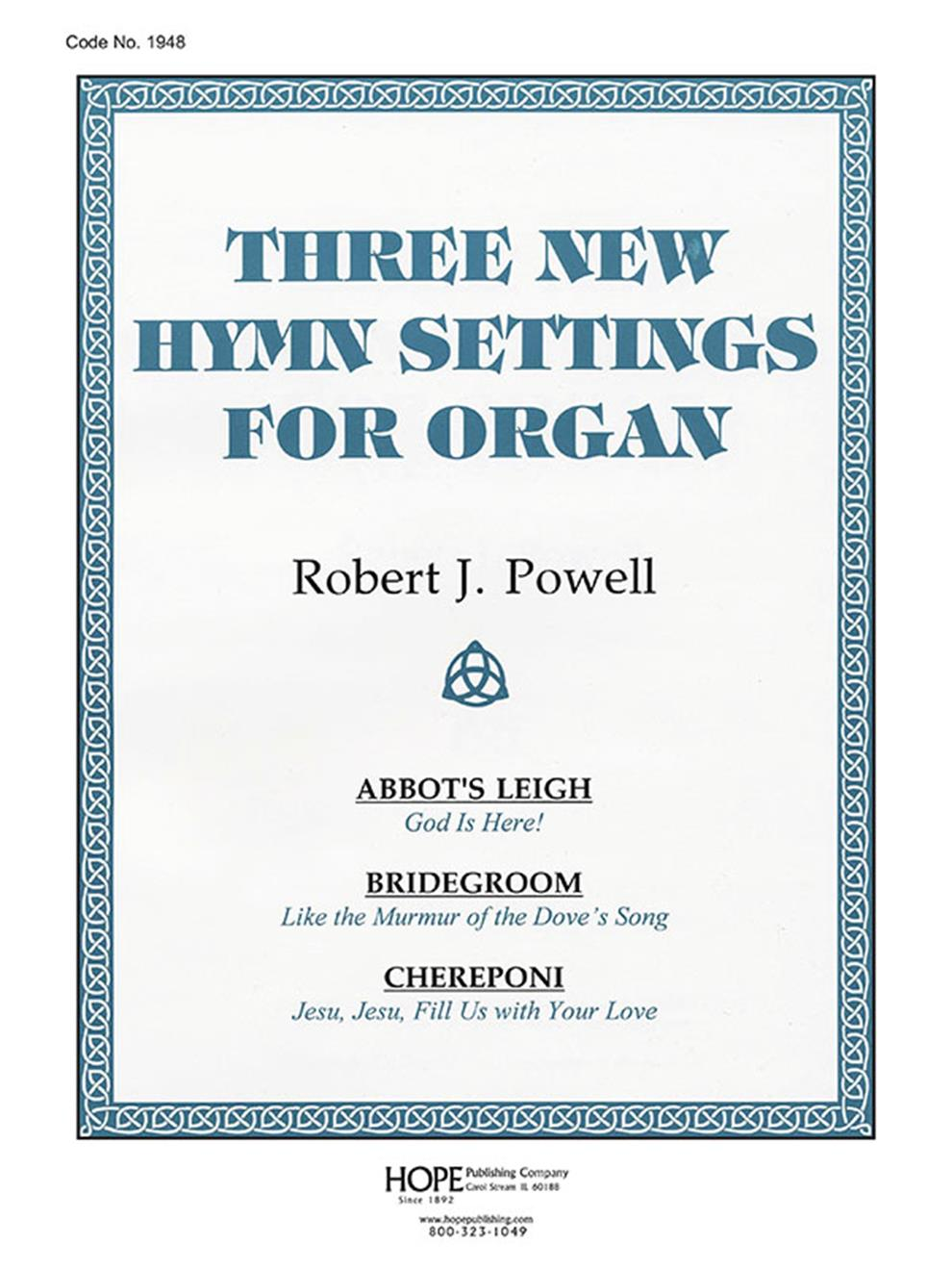 THREE NEW HYMN SETTINGS FOR ORGAN - Cover IMage