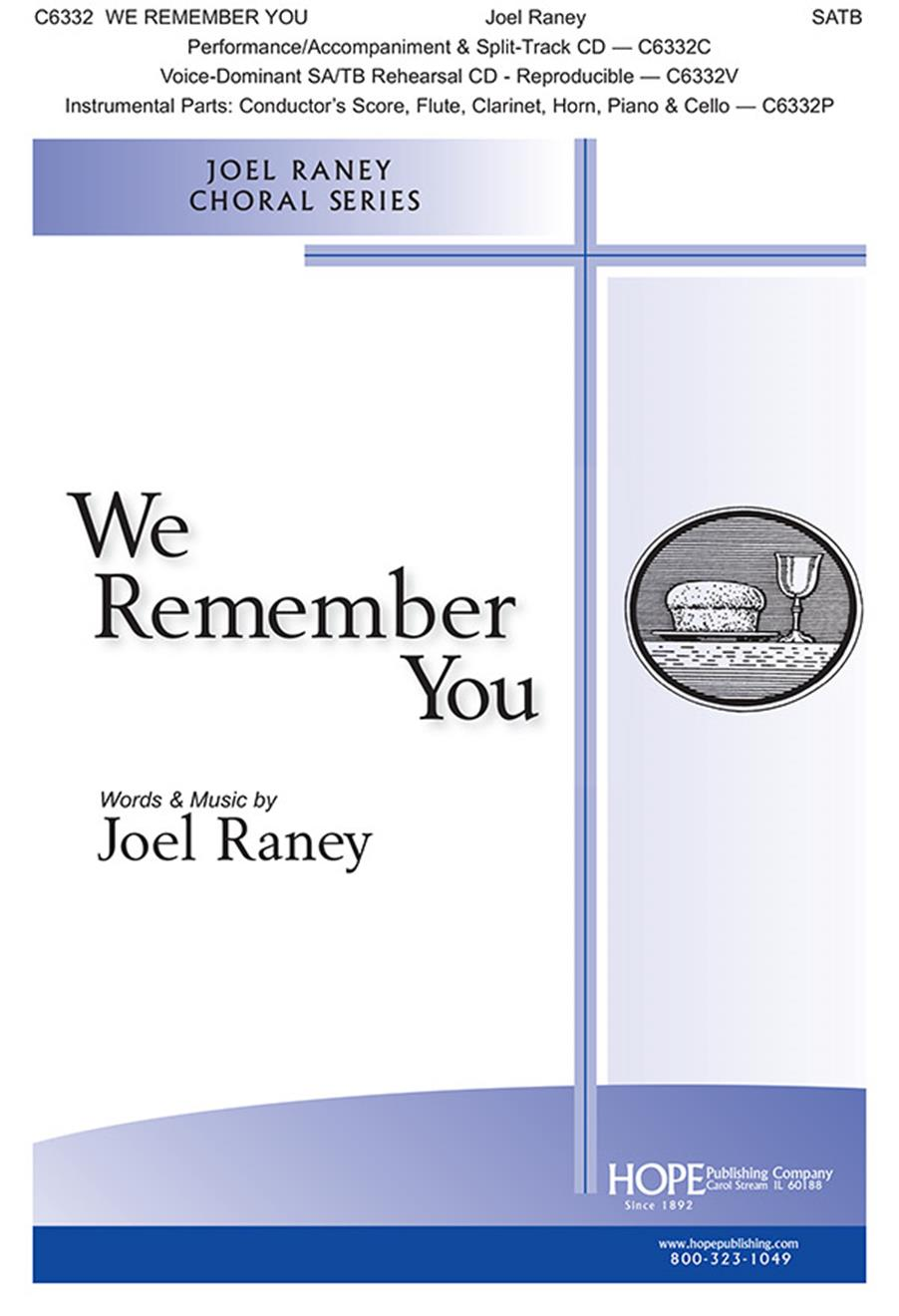 We Remember You - SATB Cover Image