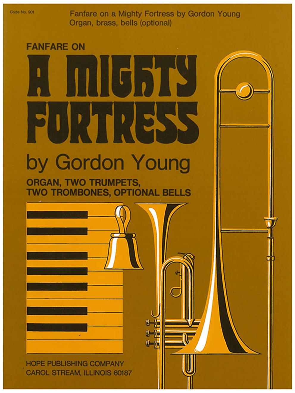"""Fanfare on """"A Mighty Fortress"""" - Organ and Brass Cover Image"""