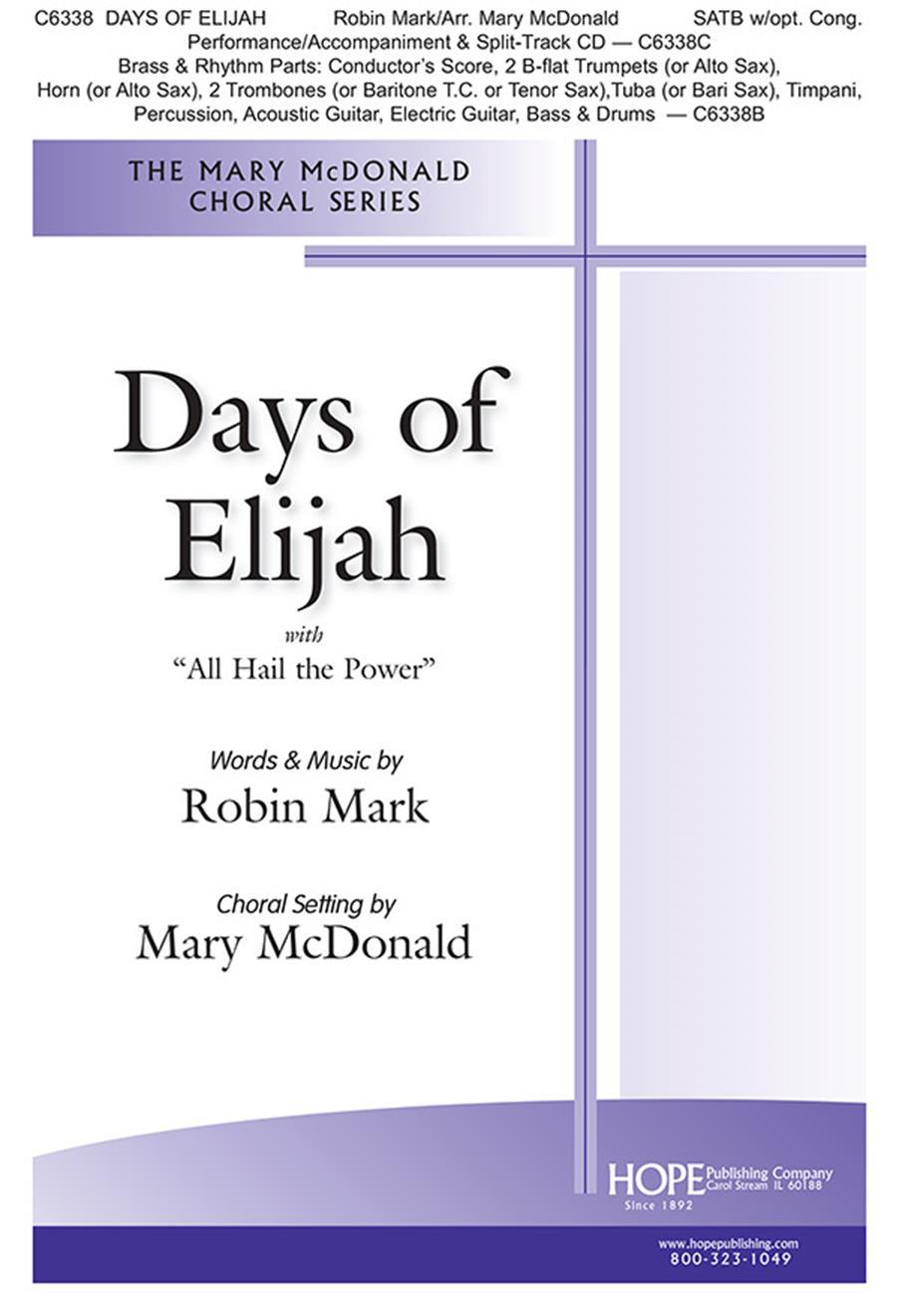 Days of Elijah -SATB Cover Image