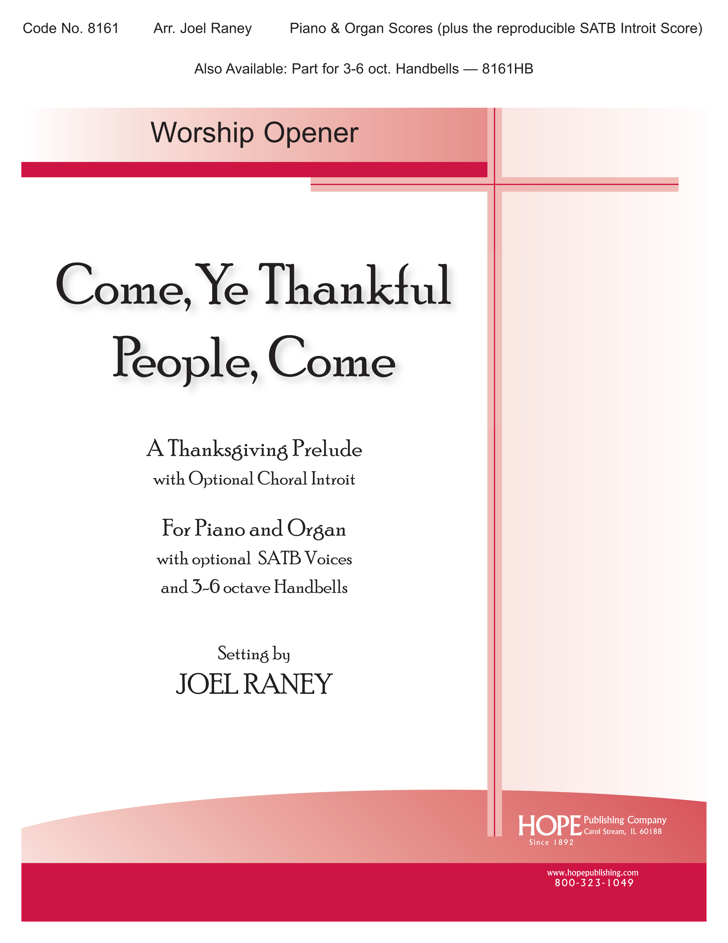Come Ye Thankful People Come - Organ-Piano Duet Cover Image