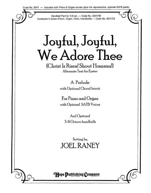 Joyful Joyful We Adore Thee - Piano Cover Image