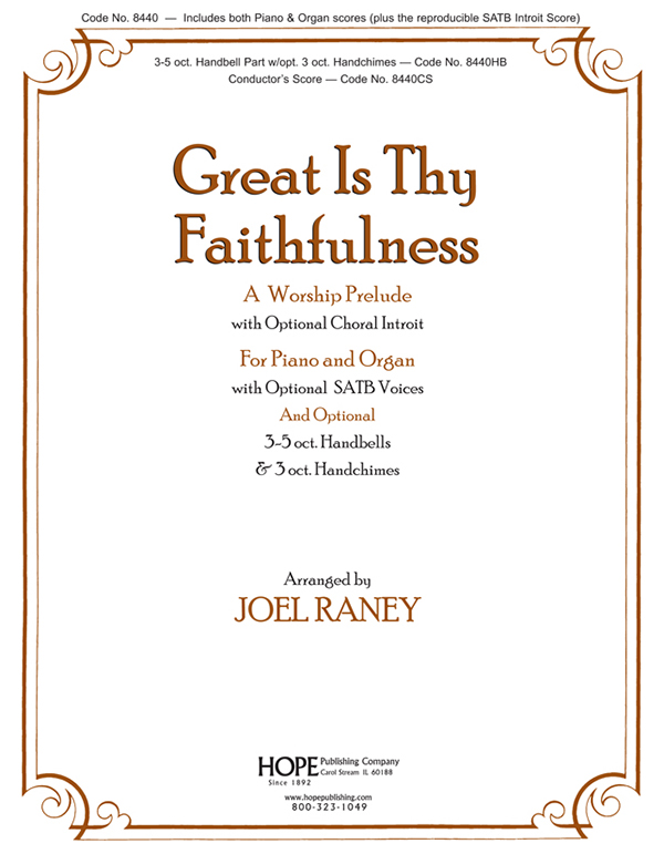 Great Is Thy Faithfulness - Piano-Organ Cover Image