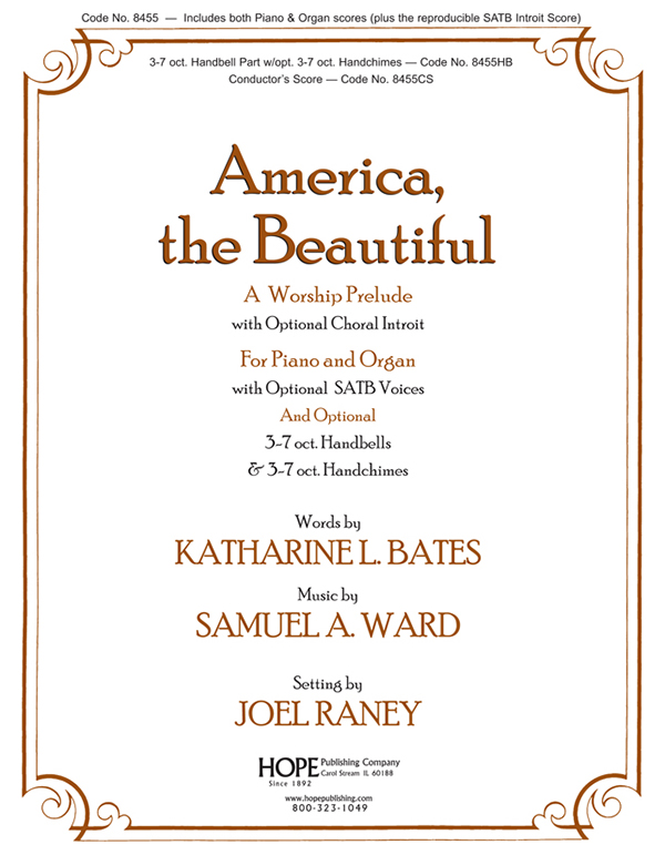 America the Beautiful - Piano-Organ w-opt. Choral Introit Cover Image