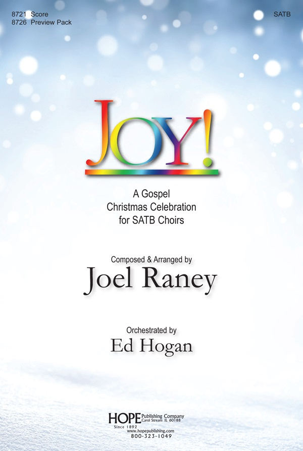 joy musical score cover image - Christmas Cantatas For Small Choirs