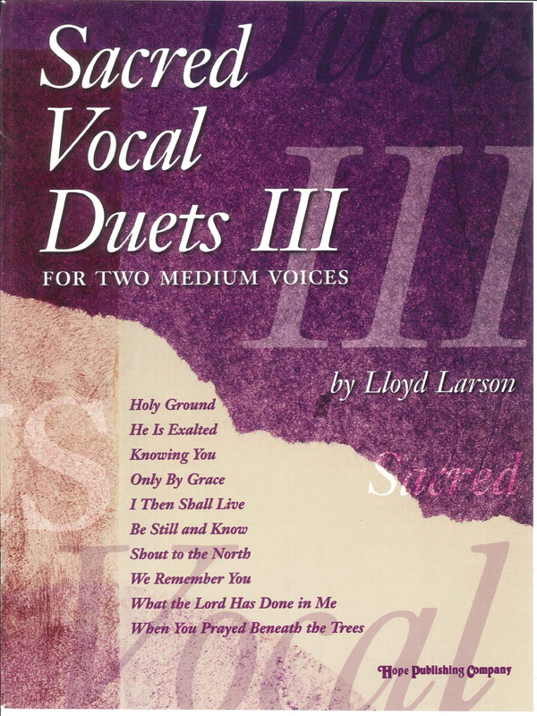 Sacred Vocal Duets III (2 Medium Voices) Cover Image