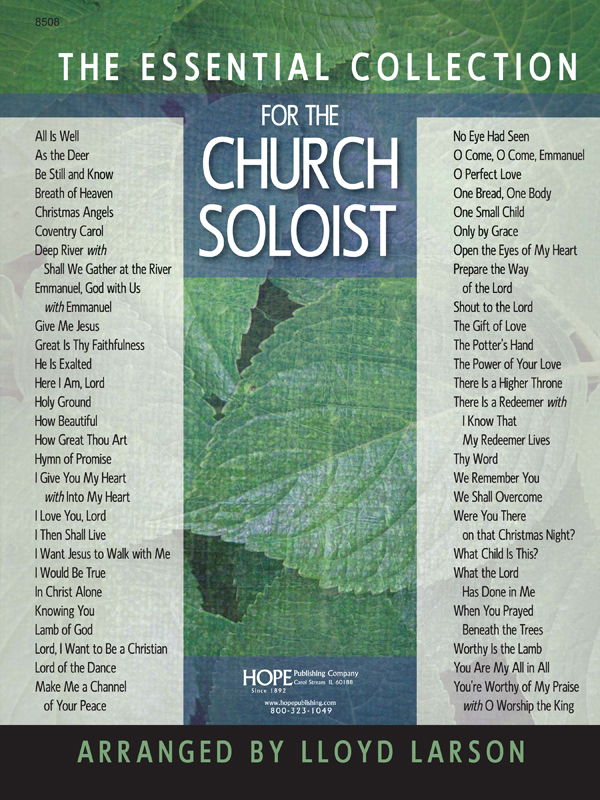 Essential Collection for the Church Soloist The Cover Image