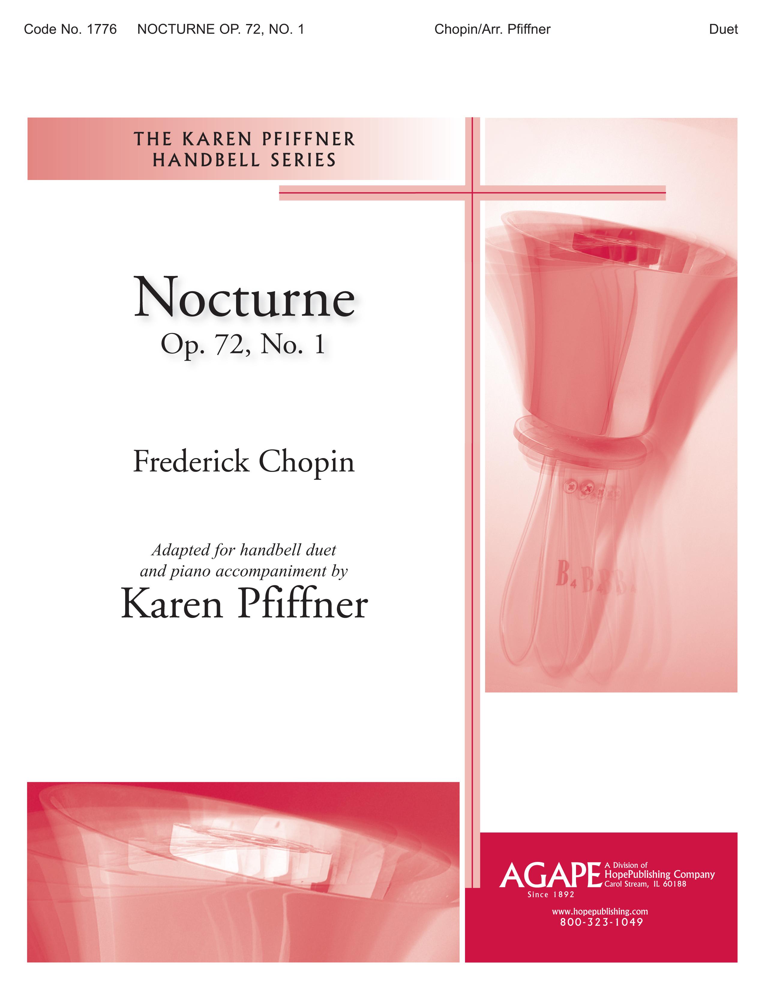 Nocturne Op. 72 No. 1 - Handbell Duet Cover Image