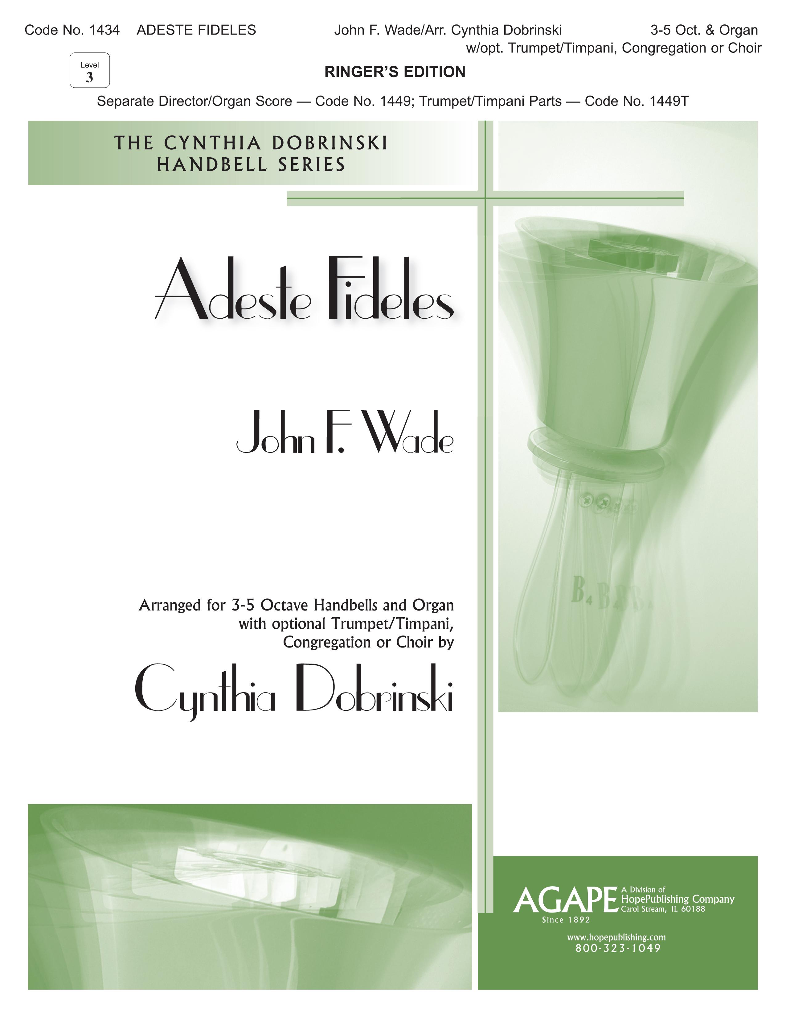 Adeste Fideles - Ringers Ed. (3-5 Octaves) Cover Image