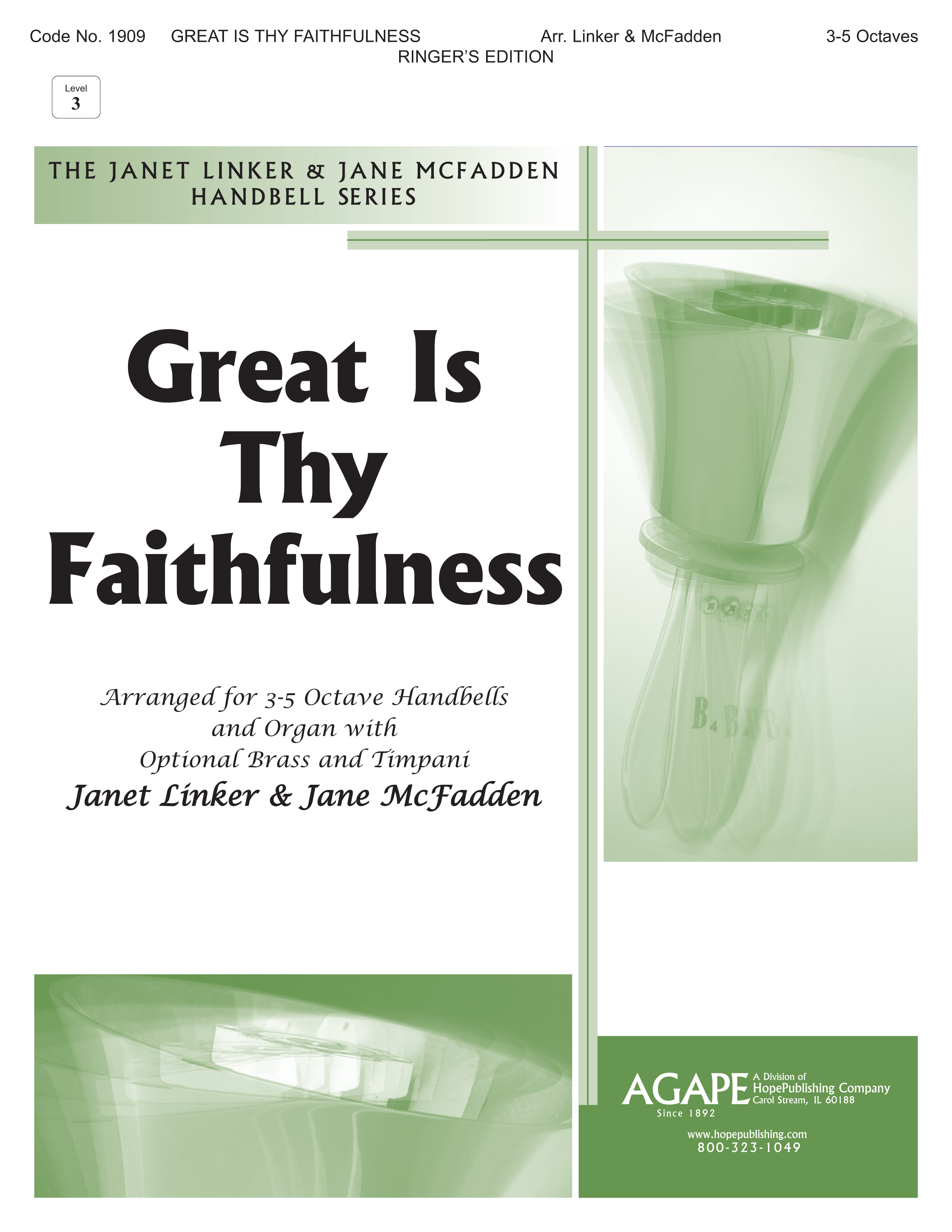 Great Is Thy Faithfulness - 3-5 Octave Cover Image