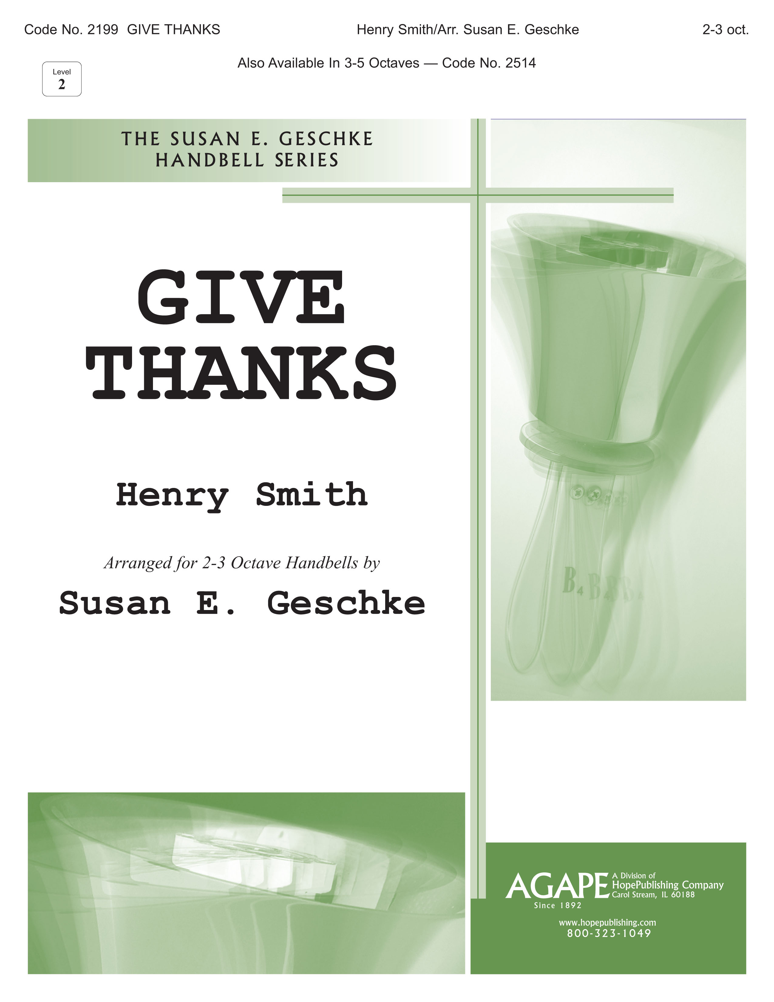 Give Thanks - 2-3 Octave Cover Image