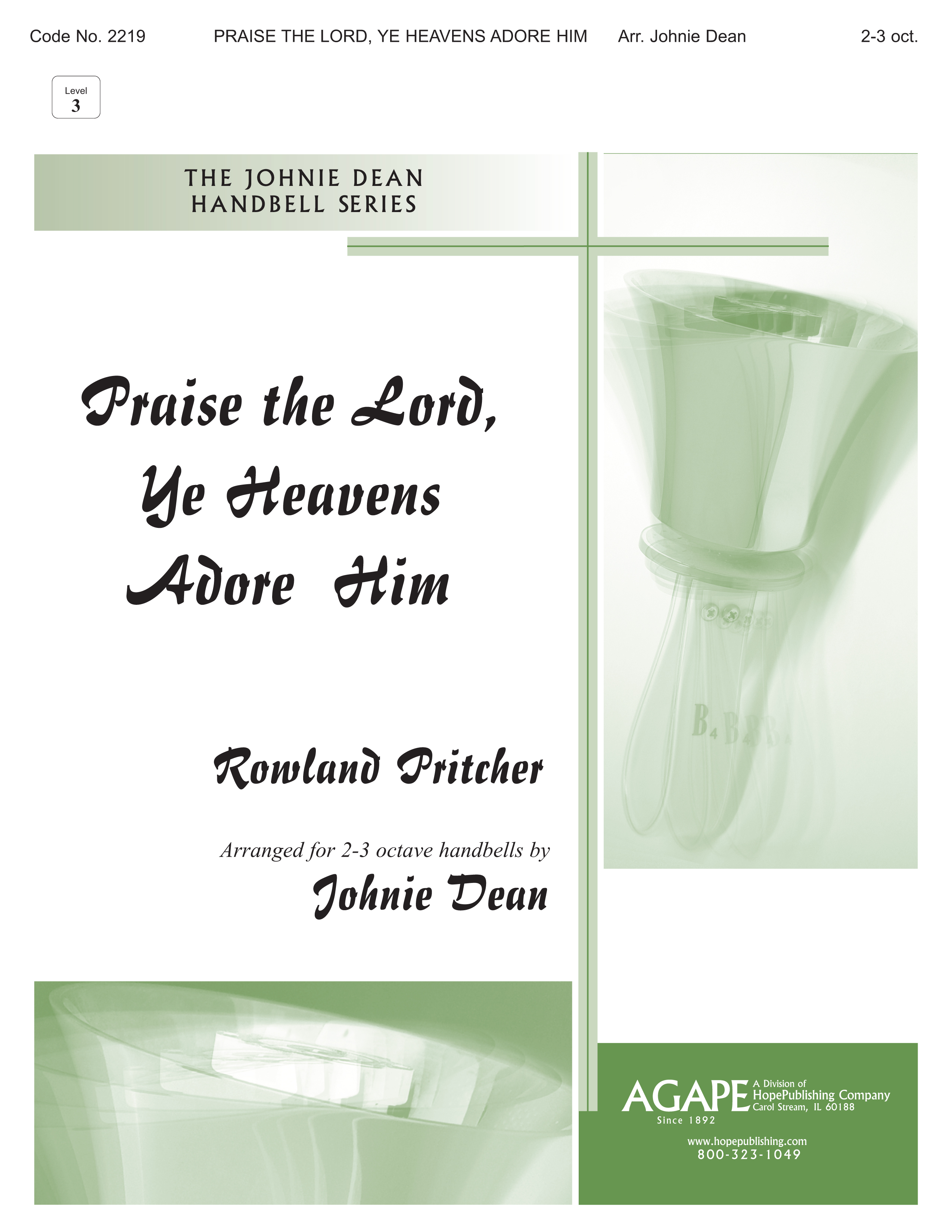 Praise the Lord Ye Heavens Adore Him - 2-3 Octave Cover Image