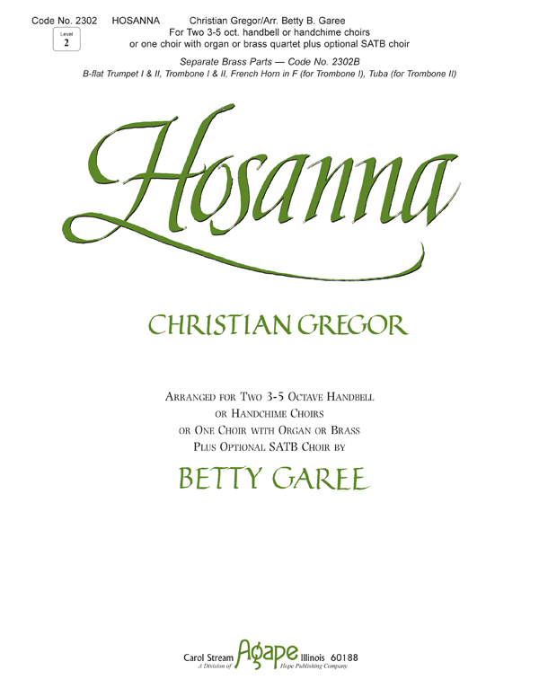 Hosanna - for Two 3-5 Octave Choirs Cover Image