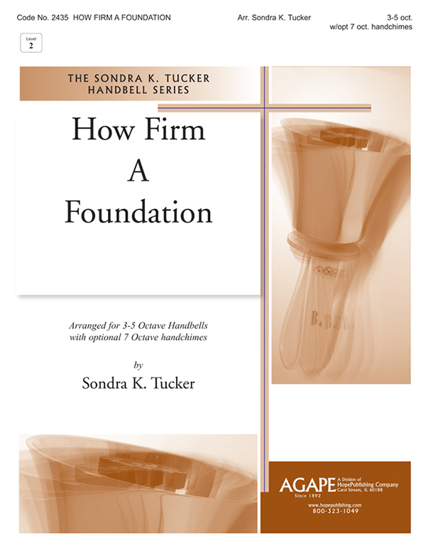How Firm a Foundation - 3-5 Oct. Handbell Cover Image