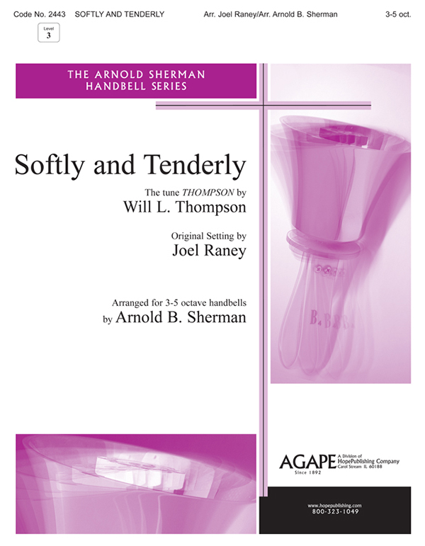 Softly and Tenderly - 3-5 Oct. Handbell Cover Image