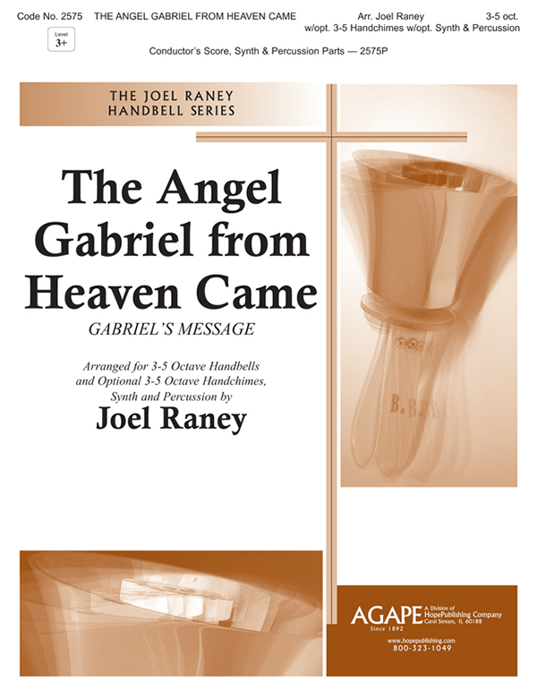 Angel Gabriel from Heaven Came The - 3-5 Oct. w-opt.Chimes Synth and Perc. Cover Image