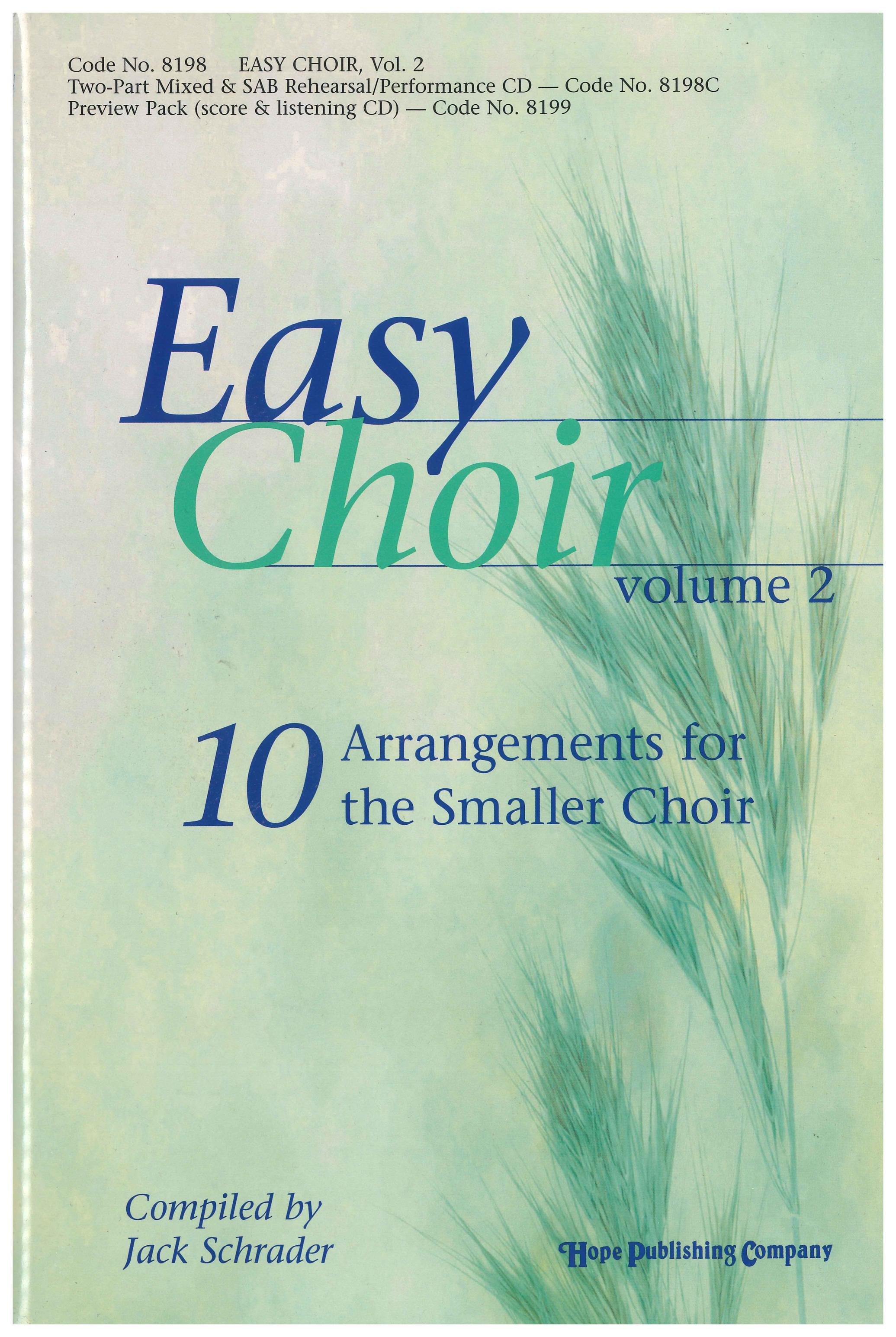 Easy Choir Vol. 2 - Score Cover Image