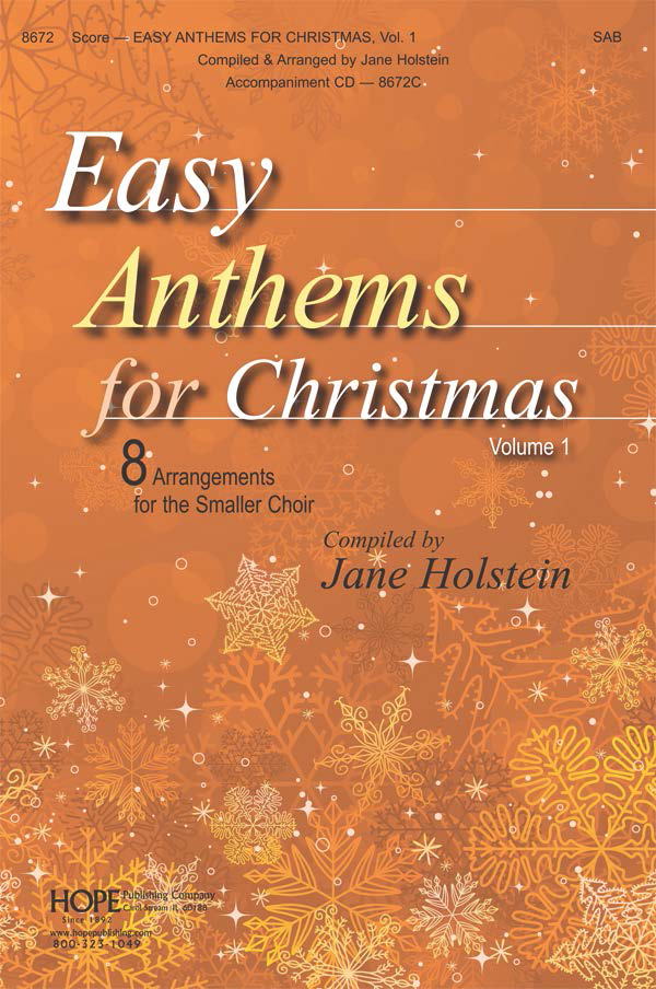 Easy Anthems for Christmas - Score Cover Image